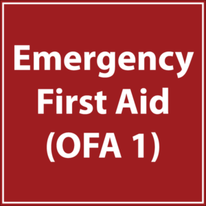 Emergency First Aid OFA 1 course